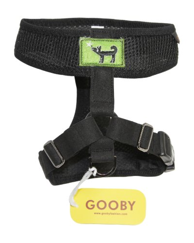 Gooby Freedom Dog Harness, Medium, Black