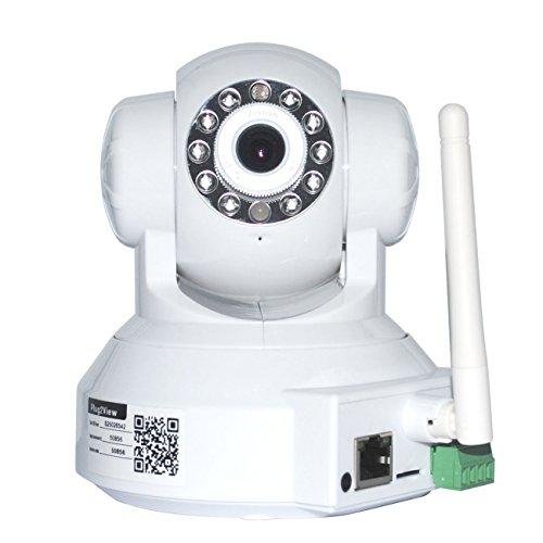 Vcall® Plug & Play Pan & Tilt Ip/Motion Detection/Mobile View/Network Surveillance Megapixel Network Internet Camera Surveillance Camera W/ Two-Way Audio, Ir-Cut Night Vision, Built-In Microphone With Cell Phone Remote Monitoring, Email Alert Snapshot, Vi
