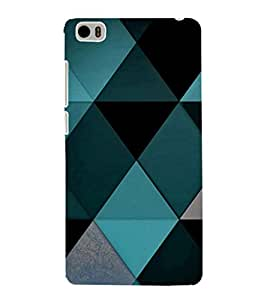EPICCASE Blue Diamond Pattern Mobile Back Case Cover For Xiaomi Mi5 (Designer Case)