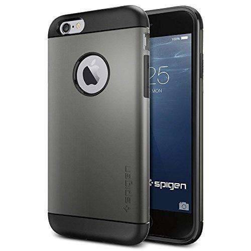 iPhone 6 ケース, Spigen® [ スリム+保護力+個性 ] Apple iPhone 4.7 (2014) スリム アーマー The New iPhone アイフォン6 (国内正規品) (ガンメタル SGP10959)
