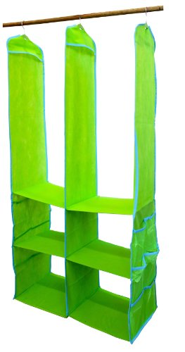 Delta SOS 4-Shelf Kids' Closet Organizer - Pop Lime - 1
