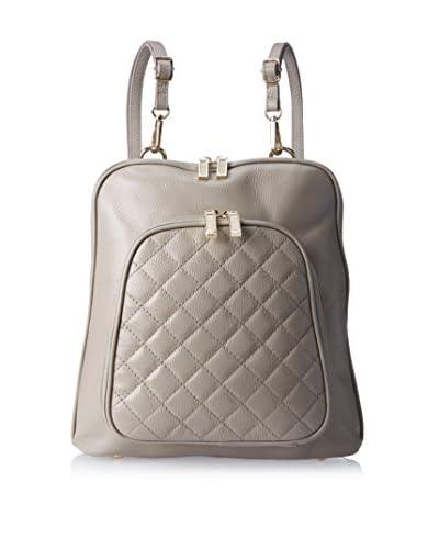Zenith Women's Quilt Front Pocket Backpack, Grey