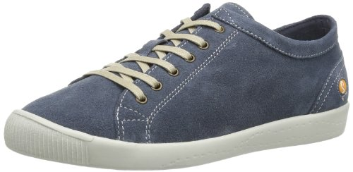 Softinos Womens Isis suede Low Blue Blau (jeans 513) Size: 38