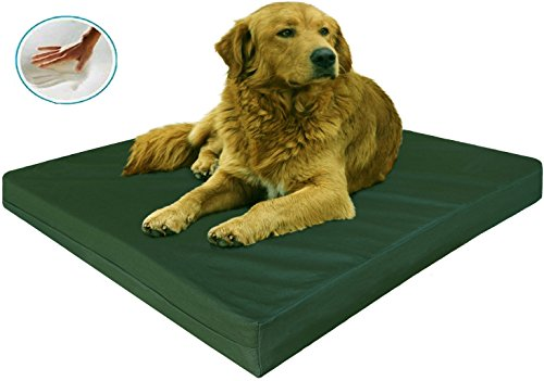 "Extra Large Therapeutic Waterproof Memory Foam Dog Pet Bed With Durable Canvas Cover + Bonus Case 40""X35"" front-1015608"