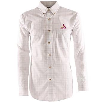 MLB Mens St. Louis Cardinals Esteem Long Sleeve Woven Shirt by Antigua