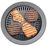 2 X Chefmaster KTGR5 13-Inch Smokeless Stovetop Barbecue Grill