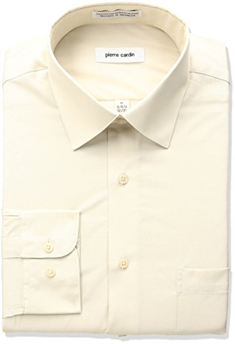 pierre-cardin-mens-classic-fit-solid-broadcloth-semi-spread-collar-shirt-sand-16-165-neck-32-33-slee