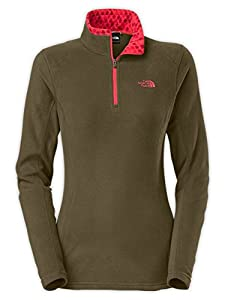 The North Face Glacier 1/4 Zip Fleece Women's New Taupe Green M