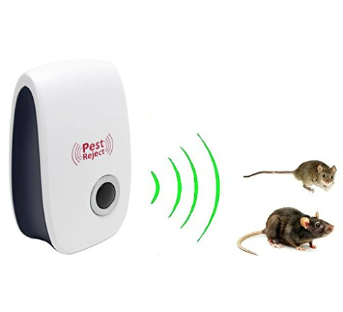 Nihao Pest Control Ultrasonic Repeller -Electronic Plug -In Repeller for Insects- Preferable Repellent for Cockroach, Rodents, Flies, Roaches, Ants, Spiders, Fleas, Mice (Mice Removal compare prices)