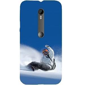 Casotec Snow Balance Design Hard Back Case Cover for Motorola Moto G 3rd Generation
