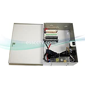 Power Supply Distribution Box: 24V AC 9 channels 5 Amps, Fused, UL Listed
