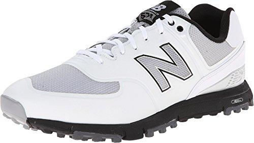 New Balance Men's NBG574B Spikeless Golf Shoe, White/Grey, 11 D US