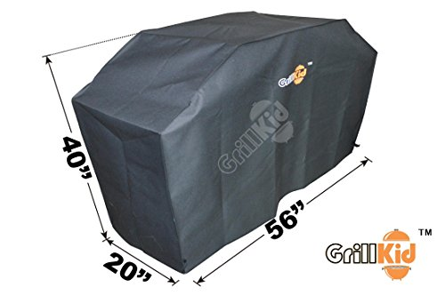 """Grillkid CV56 56""""X20""""X40"""" Universal Polyester with PE Lining Gas Grill Cover"""