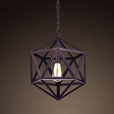 Ecopower Industrial Edison Hanging Pendant 1 Light Large Size Art Deco Cage Lamp Guard