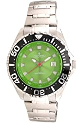 Croton Men's Sport Diver Green Dial Stainless Steel Watch