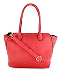 Stol'n-Women Stylish Faux Leather Red Hand Bag-812Red
