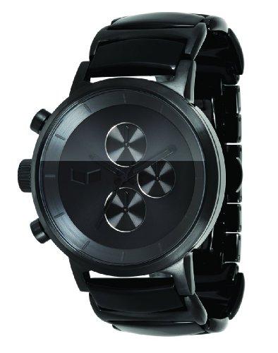 marc jacobs mens watches vestal men s metca02 metronome black black acetate chronograph watch