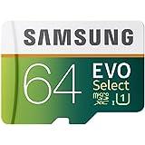 64 GB , Micro SD W/ Adapter : Samsung 64GB 80MB/s EVO Select Micro SDXC Memory Card (MB-ME64DA/AM)