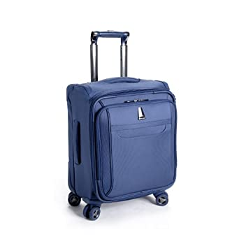 delsey luggage helium x 39 pert lite personal ultra light 4 wheel spinner tote blue. Black Bedroom Furniture Sets. Home Design Ideas