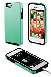 Acase Superleggera Cover/ Case for iPhone 5 - Pro Dual Layer Protection - Fit for Apple iPhone 5 (Carol Green)