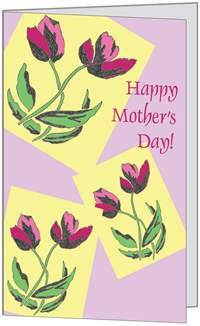 Happy Mother Day Mom Flowers Love Pretty Greeting Card (5x7) by QuickieCards. Always Fast FREE Shipping