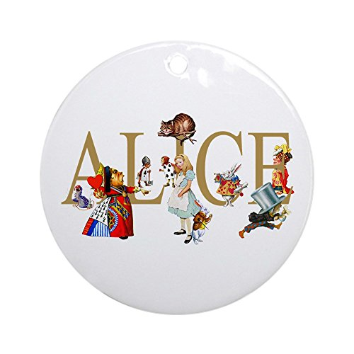 CafePress - ALICE & FRIENDS IN WONDERLAND Ornament (Round) - Round Holiday Christmas Ornament (Caterpillar In Alice In Wonderland)