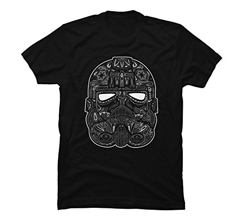 Tie Fighter Calavera Men's Large Black Graphic T Shirt - Design By Humans
