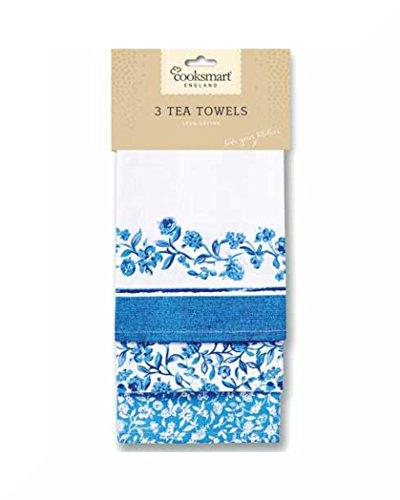 100% cotone t-towels Confezione da 3CookSmart & regalo Secret Garden