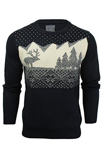 Seasons Greetings -  Maglione  - Uomo Eclipse Blue Large