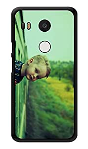 """Humor Gang Boy In Train Printed Designer Mobile Back Cover For """"Lg Google Nexus 5x"""" (3D, Glossy, Premium Quality Snap On Case)"""