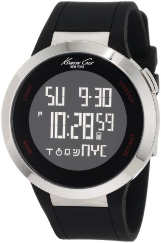 Kenneth Cole New York Unisex KC1639 Digital Black Screen Dial Watch