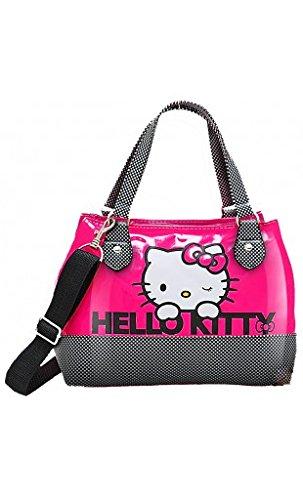 Hello Kitty Borsa Bauletto Fucsia - Borsa da giorno con tracolla.