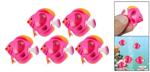 5 x Plastic Tropical Sea Float Fish Decoration 