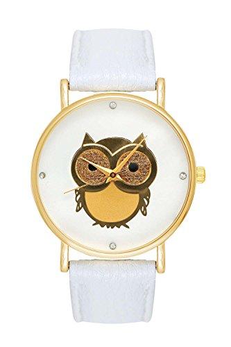 damenuhr-uhr-eule-eulemotiv-owl-armbanduhr-farbe-weiss-gold-blogger-boho-hippie-hipster-trend-rosen-