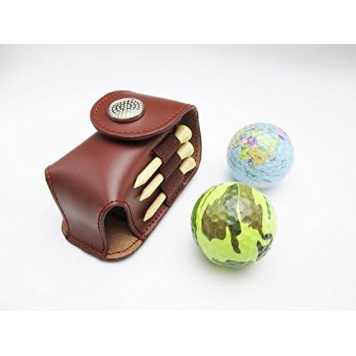 携帯 用 ゴルフ ボール ケース ボール 2個 迷彩 地球 ティー 3本 グリーン フォーク 1個 セット