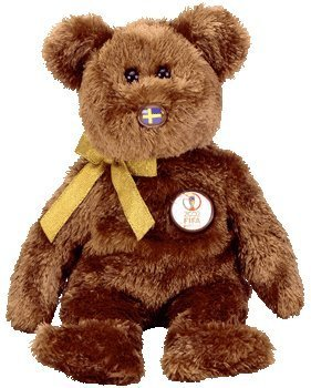 TY Beanie Baby - CHAMPION the FIFA Bear ( Sweden ) - 1