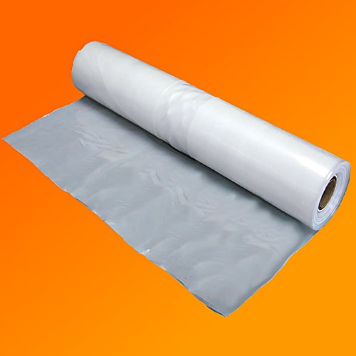 QVS Shop 4M X 6M Clear Polythene Sheeting 125Mu / 500G Plastic Sheet Protection Cover