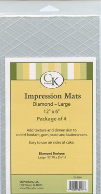 Diamond Quilted Impression Mats Set of 4 Large (Quilt Fondant Mold compare prices)