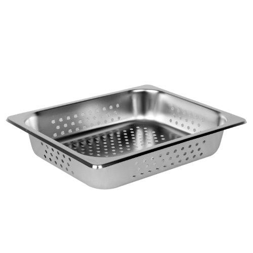 Excellante Half Size 2-Inch Deep Perforated 24 Gauge Steam Pans (Perforated Hotel Pan compare prices)