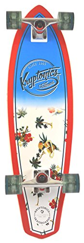 Kryptonic Retro Kryptonic Maui Pattern Longskate Kryptonic, Bianco
