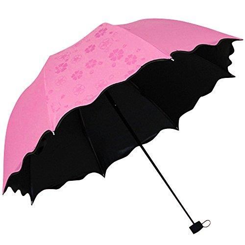 (リワード) REWARD 日傘 雨傘 晴雨兼用 折り畳み傘 濡れると美しい花柄が浮き上がる 完全遮光 UPF50+ 遮熱5℃以上 紫外線遮蔽率 99.99%UVカット8本骨 90cm 全6色