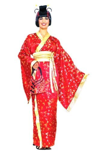 Forum Novelties Madame Butterfly Geisha Costume, Red, One Size (Madame Red compare prices)