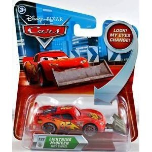 Disney / Pixar CARS Movie 155 Die Cast Car with Lenticular Eyes Lightning McQueen with Shovel