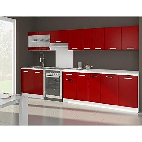 OLA Cuisine complete rouge mat 320 cm