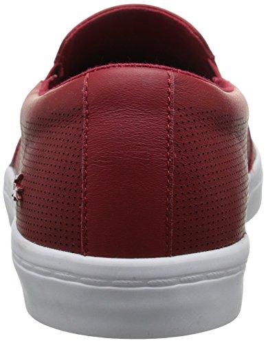 Lacoste Women's Gazon 116 1 Fashion Sneaker, Dark Red, 8 M US
