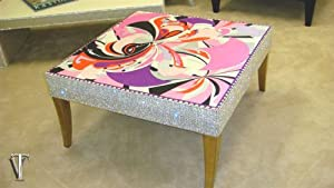 The Belgravia Coffee table shown in Fabric by Emilio Pucci......Simply Stunning!
