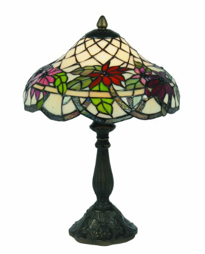 Oaks Lighting Adara Tiffany Table Lamp, 12-inch