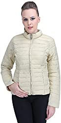 Ozel Studio Women's Regular Fit Jacket (JKT-020_X-Small, Ivory, X-Small)