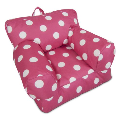 BeanSack Kid's Hot Pink/ White Polka Dots Bean