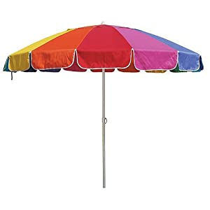multi color rainbow or patio umbrella